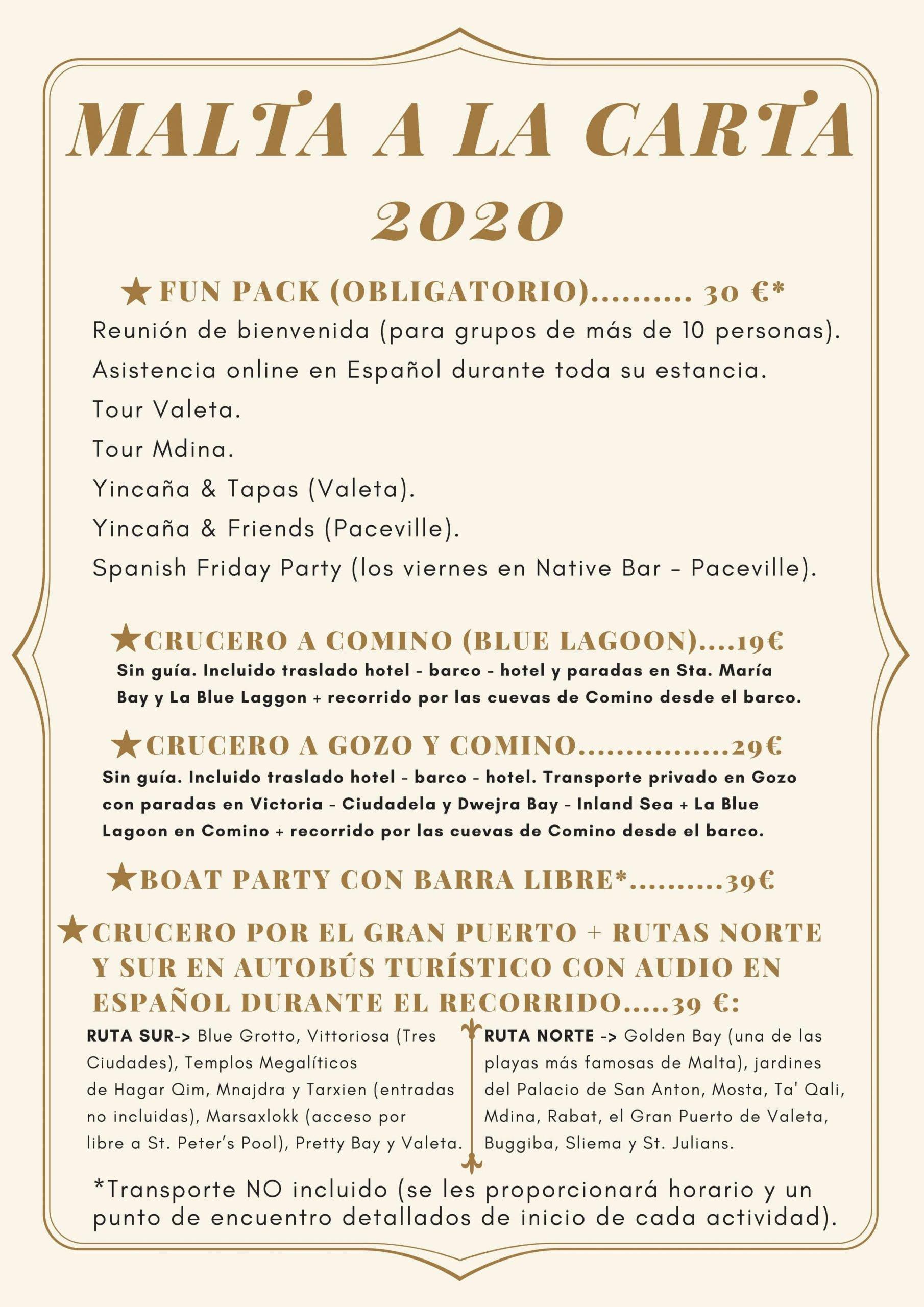 viajes a malta 2020