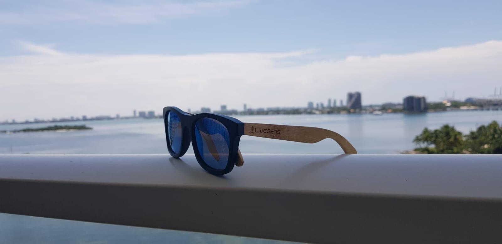 gafas de sol de madera bambu livegens